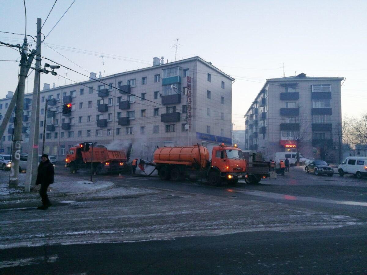 Полсотни домов вЧите остались без тепла из-за аварии надороге