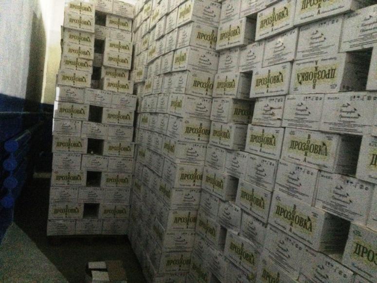 ВЧите изъяли около 60 тонн поддельной водки