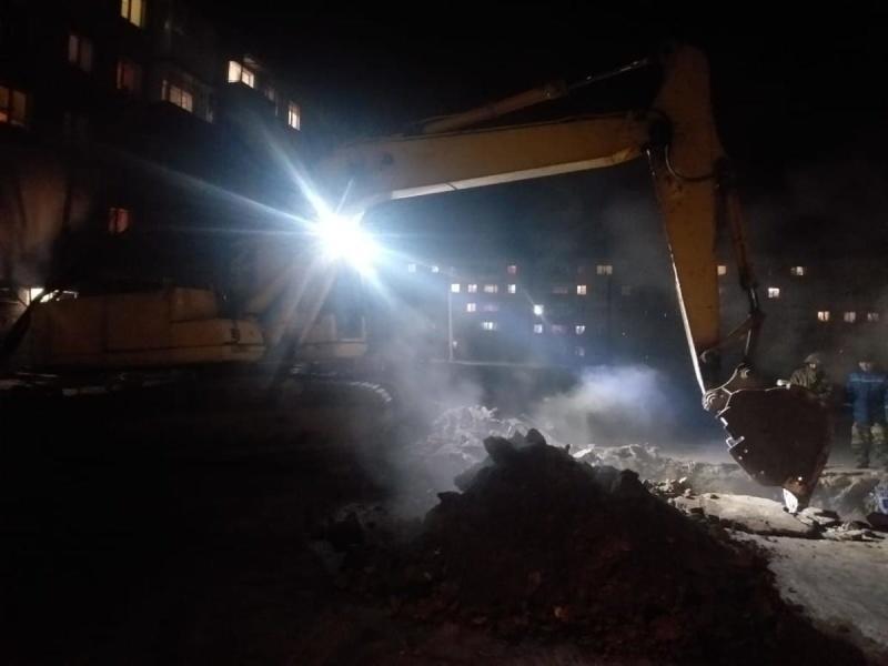 В МЧС рассказали о подробностях аварии на теплотрассе в Читинском районе