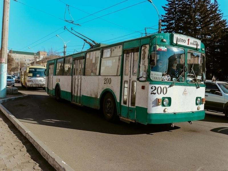 Строительство новой троллейбусной линии в Чите перенесли на 2021 год