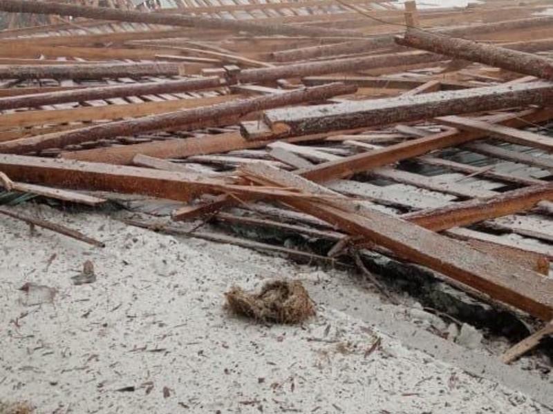 Штормовой ветер снёс крышу сельского детского сада в районе Забайкалья