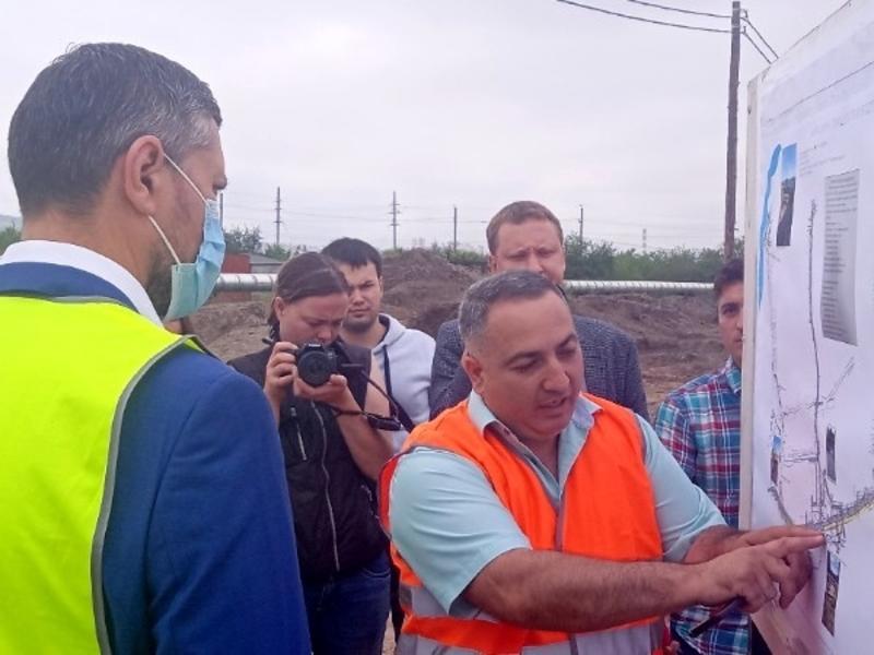 Неточность в проекте ливневой канализации допустили на строящейся дороге в Чите