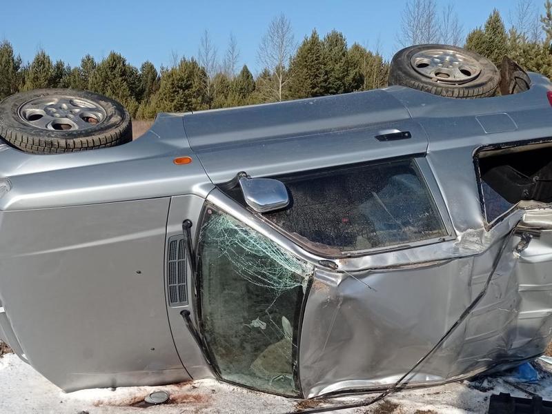 Водитель Mitsubishi перевернулся на федеральной трассе в Забайкалье