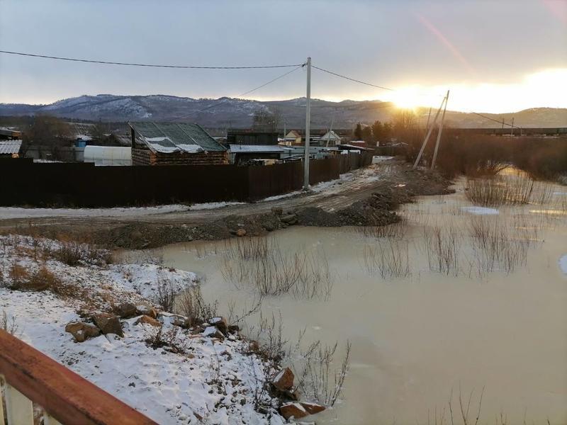 В Забайкалье разливаются грунтовые воды