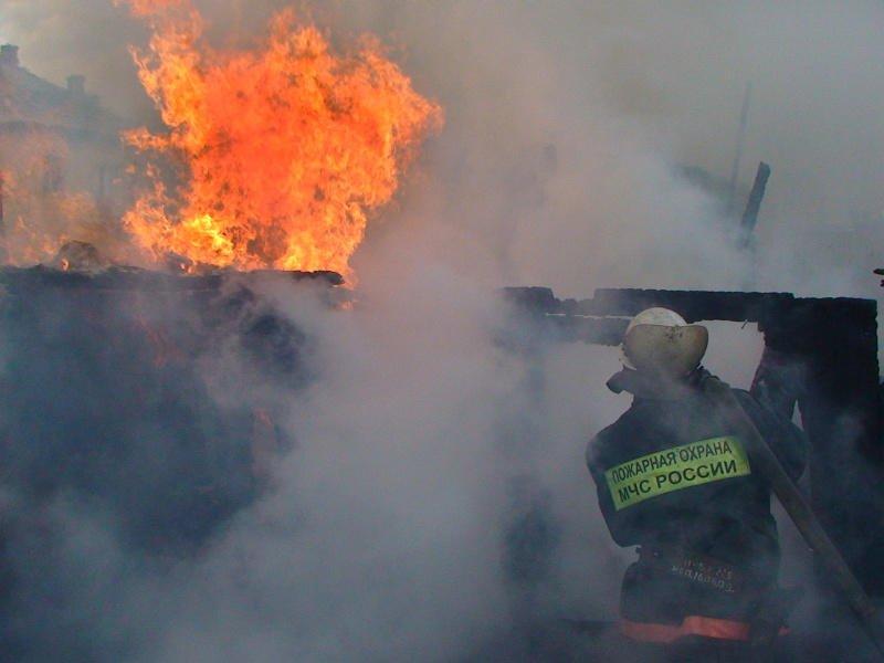 Погиб мужчина во время пожара в Чите