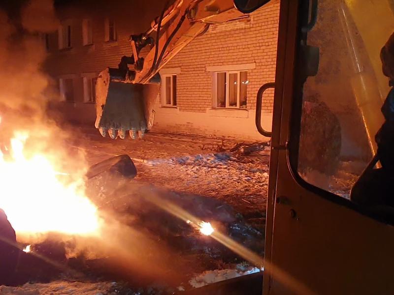 Режим ЧС введен в Читинском районе из-за порыва теплотрассы