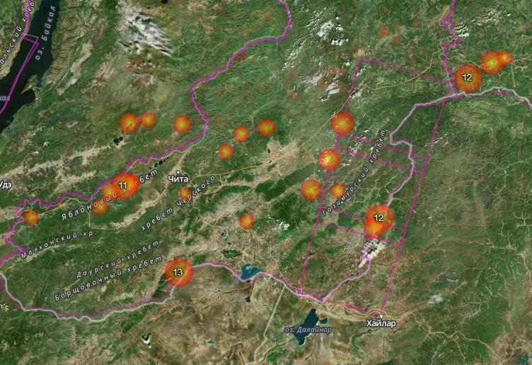 Лесной пожар наплощади 130 га гасят вЗабайкалье