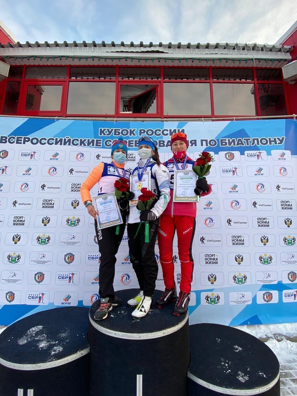Забайкальская биатлонистка взяла бронзу этапа Кубка России