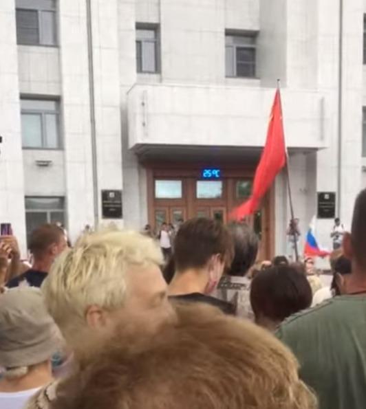 «Руки прочь от Байкала» прозвучало в Хабаровске на акции в поддержку Сергея Фургала